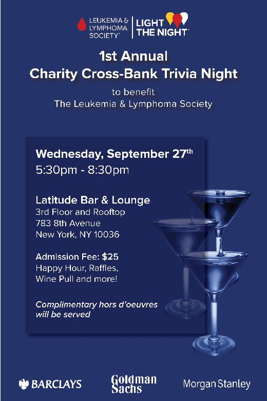 Welcome to Morgan Stanley - Cross-Bank Trivia's Fundraising Page